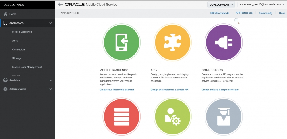 Mobile Cloud Services Dashboard