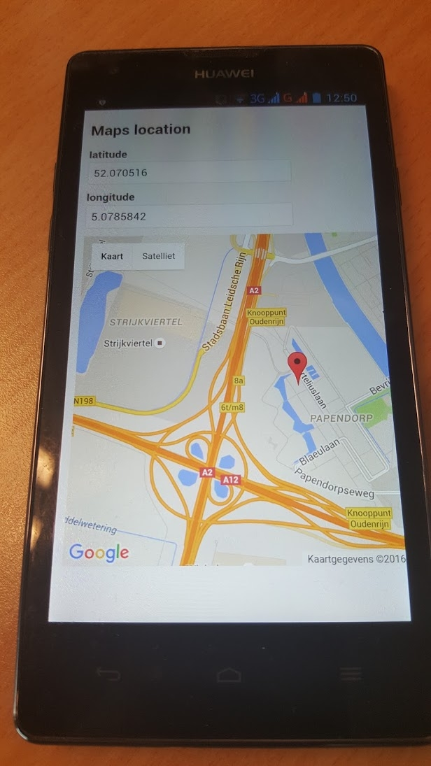 Phone with Google Maps